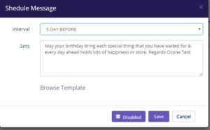 Birthday SMS scheduling software