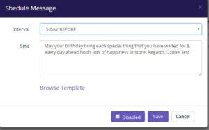 Birthday SMS scheduling software