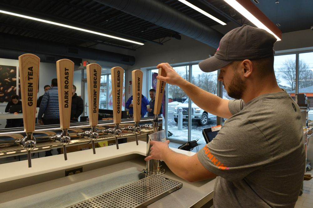 Dunkin 'Next Generation' Store Grand Opening in Framingham